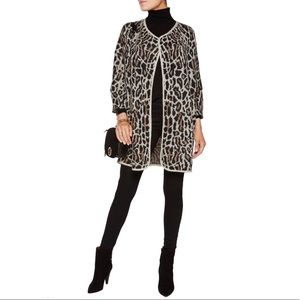 Joie Berit Animal  Print Wool Blend Cardigan